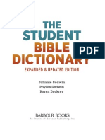 The Student Bible Dictionary - Expanded and Updated Edition Excerpt