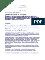 Liwayway Publication v Permanent Concrete Workers Union