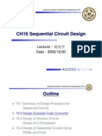 CH16 Sequential Circuit Design 2005-12-30 v4