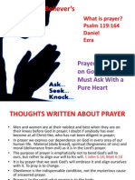 The Believer's Prayer Life Presentation 2 August 2014