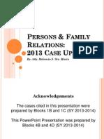 2013 PFR Case Updates