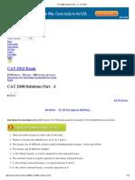 CAT 2008 Solutions Part - 3 - CAT 2013