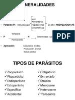 Generalidades de La Parasitologia