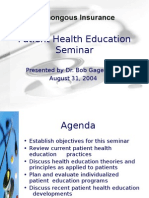 Patient Health Education Seminar powerpoint template