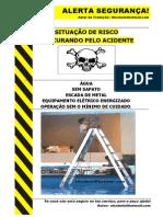 Alerta de Seguran a Escada Met Lica Na Gua