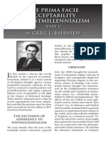 2010 Issue 6 - The Prima Facie Acceptability of Postmillennialism Part 1 - Counsel of Chalcedon