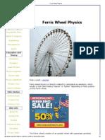 Ferris Wheel Physics