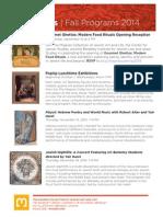 Public Programs | Fall 2014