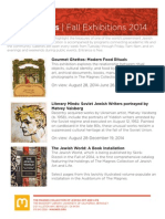 Exhibitions | Fall 2014