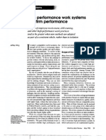 High Performance Work System