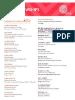 2014 Fellowship Roster