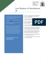 Term Prelabour Rupture of Membranes (Term Prom) (C-Obs 36) Review Mar 14
