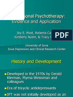 Lecture 9 Interpersonal Psychotherapy