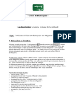 Philosophie La Dissertation Exemple Pratique de La Methode