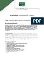 Philosophie La Dissertation Exemple Pratique de La Methode