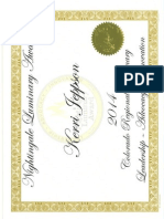 nightengale nomination certificate