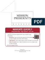 Mission Presidents' Handbook-(2006)