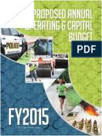 COSA Proposed Budget 2015