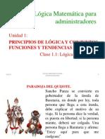 1.1 Logica Proposiciones