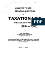 Taxation Law Suggested Answers (1994-2006), Word