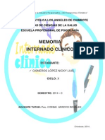Memoria Internado Clínico - Cisneros López Nicky Luis