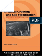 Chemical Grouting and Soil Stabilization, Revised and Expanded