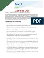 Fact Sheet Anti Candida Diet