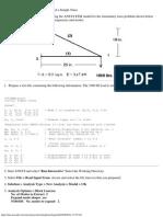 Using ANSYS Simple Truss Problem Truss1