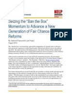 """Seizing the """"Ban the Box"""" Momentum to Advance a New Generation of Fair Chance Hiring Reforms"""