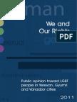 Public opinion, Sexuality in Armenia (Yerevan,Gyumri,Vanadzor)