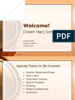 Welcome to school powerpoint template