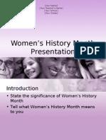 Womens History Month Presentation