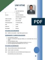 Curriculum Vitae Pablo Madrid