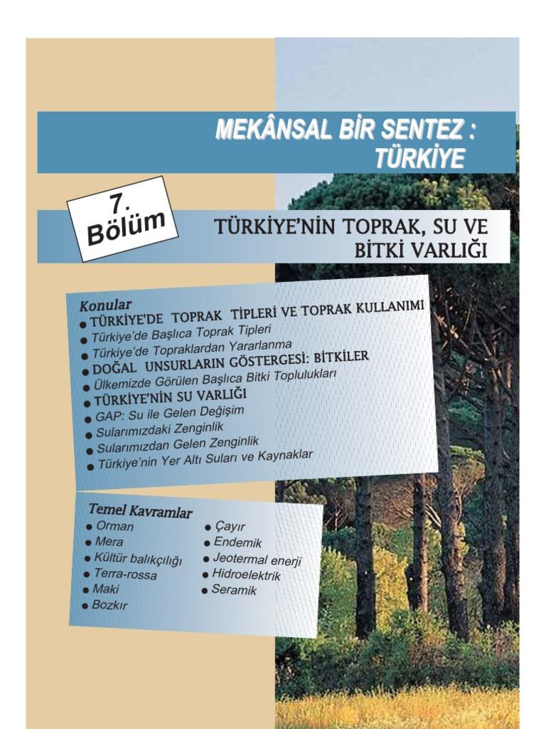 7 Turkiyede Toprak Su Bitki