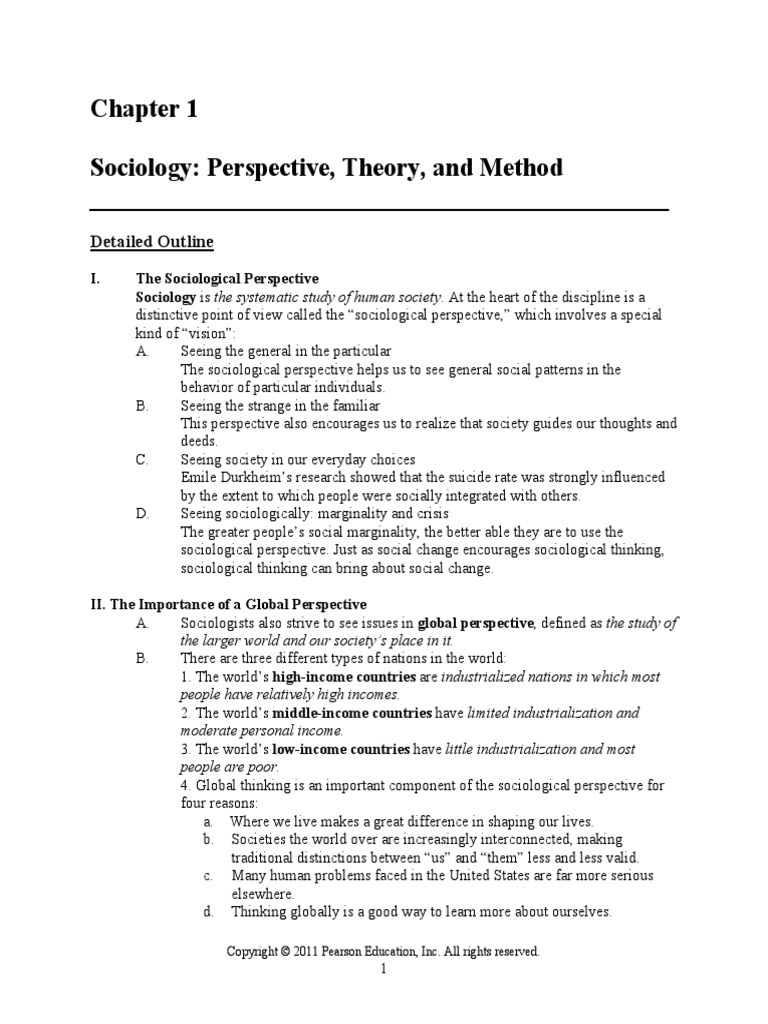 sociology theories outline Sociological theories tend to see crime as the product of normal people engaging in normal social processes in normal (though perhaps not ideal) social environments crime and criminology.