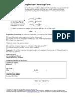RegSeeker Licensing Form