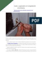 El Hurto Calificado y Agravado en La Legislación Colombiana