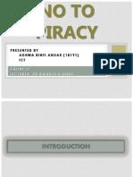 No to Piracy Presentation Slide