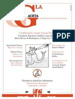 La Gaceta - Octubre 2001 - Celebrando a Juan Garcia Ponce