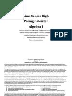 Algebra I Pacing Calendar 2014-2015