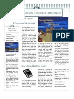 urban ministry newsletter spring 2008