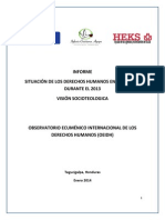 Informe Socioteologico Oeidh 2013 Ultimo 14012014