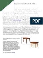 Consolle Allungabile Bianco Frassinato (110)