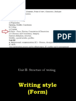 Unit II- Structure of Writing