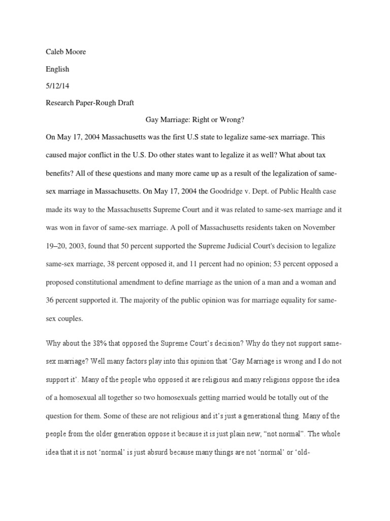 gay marriage research paper same sex marriage homosexuality