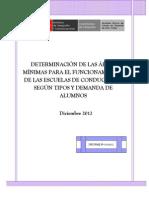 Determinación de Las Áreas Mínimas Para El Funcionamiento de Las Escuelas de Conductores Según Tipos y Demanda de Alumnos