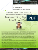 Amit Sheth's IBM Distinguished Talk July 2014 Poster