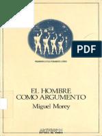 Morey - El Hombre Como Argumento