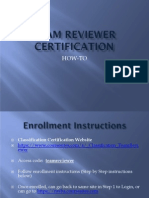 Team Reviewer Certification- How to Take Exam