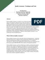 Heinzelman,Matt - Software Quality Assurance (Techniques and Tools)